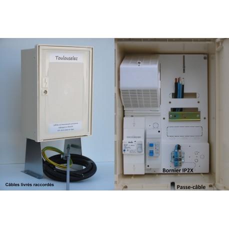Pack 3M monophasé 3/6/9 KVA 1 bornier IP2X